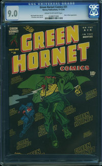 Green Hornet Comics #31 (Harvey, 1946) CGC VF/NM 9.0 CREAM TO OFF-WHITE pages