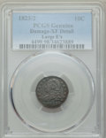 "Bust Dimes: , 1823/2 10C Large E's -- Damage -- PCGS Genuine. XF Details. EX:""E.B. Strickland Collection"". PCGS Popul..."