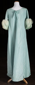 American:Academic, A Zsa Zsa Gabor Pair of Evening Gowns Worn for Filmed Events,1960s.. Two total; the first light blue silk, floor-length, th...(Total: 2 Items)