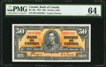 Canadian Currency, BC-26c $50 1937. ...