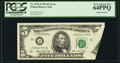 Error Notes:Foldovers, Printed Foldover Error Fr. 1973-J $5 1974 Federal Reserve Note.PCGS Very Choice New 64PPQ.. ...