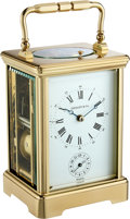Timepieces:Clocks, Tiffany & Co. Carriage Clock With Repeat, Strike & Alarm. ...
