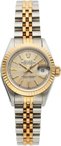 Timepieces:Wristwatch, Rolex, Ref. 69173, Two -Tone Lady's Datejust, circa 1989. ...