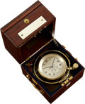 Timepieces:Pocket (post 1900), Thomas Earnshaw Very Fine & Rare One Day Marine Chronometer No. 453. ...