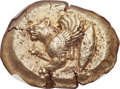 Ancients:Greek, Ancients: MYSIA. Cyzicus. Ca. 500-450 BC. EL stater (22mm, 16.04 gm). NGC AU 5/5 - 4/5, Fine Style....