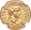 Ancients:Roman Imperial, Ancients: Galba (AD 68-69). AV aureus (19mm, 7.46 gm, 6h). NGCChoice XF 5/5 - 2/5, brushed....