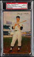 Autographs:Post Cards, Signed 1953-55 Dormand Mickey Mantle Postcard PSA Good 2. . ...