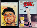 Autographs:Others, Signed Mickey Mantle Signed Comic Book Plus Unsigned Mantle ComicBook. . ...