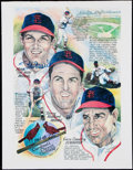 Autographs:Photos, Stan Musial, Terry Moore, and Enos Slaughter Signed Print.. ...