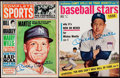 Autographs:Others, Mickey Mantle Signed Magazine Lot of 2.. ...