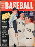 Autographs:Photos, 1957 Mickey Mantle Signed Street & Smith's Yearbook. . ...