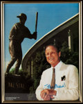 Autographs:Photos, Stan Musial Signed Framed Photo.. ...