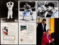 Autographs:Photos, St. Louis Browns/Cardinals Signed Image Lot of 6 - with Musial,Gibson, and Others.. ...