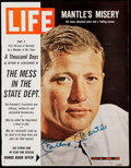 Autographs:Others, Mickey Mantle Signed 1965 LIFE Magazine.. ...