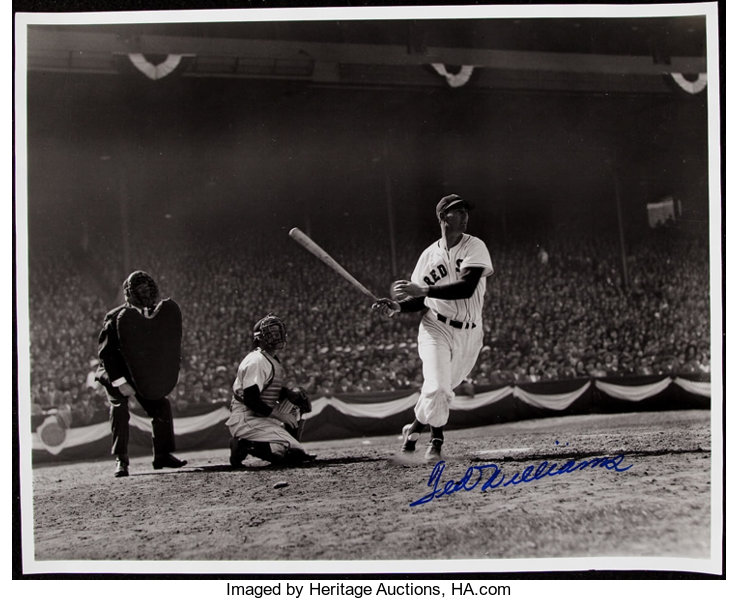 Ted Williams Signed Oversized Photograph Classic Swing