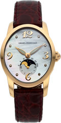 "Timepieces:Wristwatch, Girard-Perregaux, Ref: 80490, 18k Gold ""Cats Eye"" AutomaticMoonphase, Circa 2005. ..."