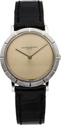 Timepieces:Wristwatch, Vacheron & Constantin, Ref. 6498, 18k Gold Ultra Thin Dress Watch, Circa 1970. ...