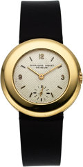 Timepieces:Wristwatch, Audemars Piguet 18k Yellow Gold Ultra-Thin Vintage Wristwatch with small seconds. ...