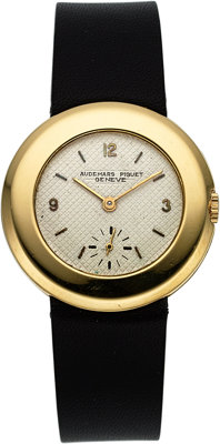 Audemars Piguet 18k Yellow Gold Ultra-Thin Vintage Wristwatch with small seconds