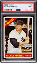 Baseball Cards:Singles (1960-1969), 1966 Topps Mickey Mantle #50 PSA Mint 9 - Only One Higher. ...