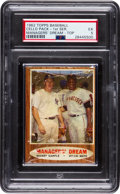 Baseball Cards:Unopened Packs/Display Boxes, 1962 Topps Baseball First Series Cello Pack PSA EX 5 - With Mantle/Mays on Front! ...
