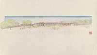 Frank Lloyd Wright (American, 1867-1959) Drawings of the Mr. & Mrs. Sterling E. Kinney House (three wor
