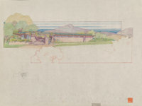 Frank Lloyd Wright (American, 1867-1959) Drawings of the Dr. & Mrs. Paul V. Palmer House, Phoenix, Arizona