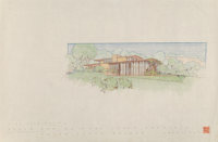 Frank Lloyd Wright (American, 1867-1959) Drawings of the Mr. & Mrs. Louis Penfield House (three works)