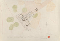 Frank Lloyd Wright (American, 1867-1959) Drawings and Renderings of the Mr. & Mrs. Gerald Sussman House (twelve