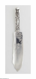 Silver & Vertu:Flatware, An American Silver Ice Cream Slice. Mark of Gorham, Providence, RI, c.1880. The 'Hizen' pattern ice cream slice with a sli...