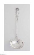 Silver Flatware, American:Other , An American Silver Ladle Mark of A. Hews Jr., c.1850 The shallowladle with a handle decorated with grapes and leaves a...