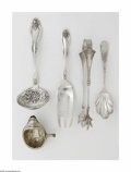 Silver Flatware, American:Coin Silver, A Group of American Silver Items Various makers, Mid-NineteenthCentury The group comprises twenty-five spoons of variou... (80Items)