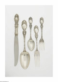 Silver Flatware, American:Wallace , An American Silver Flatware Set Mark of Wallace Silversmiths,Wallingford, CT, Twentieth century The 'Lucerne' pattern s... (37Items)