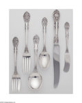 Silver Flatware, American:Gorham, An American Silver Flatware Set Mark of Gorham, Providence, RI,c.1936 The 'King Edward' pattern set comprising six blun... (48Items)