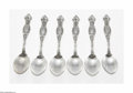 Silver & Vertu:Flatware, Six American Silver Frontenac Spoons. Mark of Simpson, Hall, Miller & Co., Wallingford, CT, c.1880. The tablespoons decora... (Total: 6 Items Item)