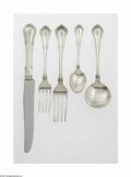 Silver & Vertu:Flatware, An American Silver Flatware Set Mark of Gorham, Providence, RI, c.1904 The fifty-five piece set in the 'Norfolk' pattern... (56 Items)
