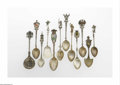 Silver & Vertu:Flatware, A Collection Of Souvenir Spoons. Various Makers, Twentieth Century. The collection comprising fifty-seven silver and silve... (Total: 58 Items Item)