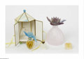 Art Glass:Other , A Grouping Of Perfume Bottles Daum Nancy, Lalique France, NinaRicci France The light pink bisected bottle in the bulbou... (3Items)