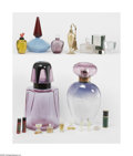 Art Glass:Other , A Grouping Of Perfume Bottles Various houses An assorted groupingof perfume bottles, factices and an atomizer, includin... (19Items)