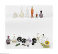 Art Glass:Other , A Grouping Of Perfume Bottles And Atomizers Various houses Thegrouping of perfume bottles, including a clear art glass ... (51Items)