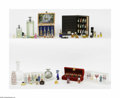 Art Glass:Other , A Grouping Of Contemporary Parfumes And Other Items Various housesA boxed atomizer set by Bulgari, an assortment of... (18 Items)