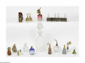 Art Glass:Other , A Grouping Of Antique Perfume Bottles Baccarat, Guerlain, andothers The eleven-piece grouping of antique perfume bottle... (15Items)