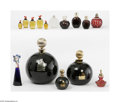 Art Glass:Other , A Grouping Of Perfume Bottles Various houses A large assortment ofperfume bottles and factices, including a grand black... (15 Items)