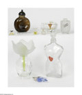 Art Glass:Other , A Grouping Of Factices And Perfume Bottles Various houses Thefactices include Schaparelle, Halston and Cloe 15.75i... (9 Items)