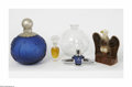 Art Glass:Other , A Grouping Of Perfume Bottles Various houses A five-piece groupingof perfume bottles comprising a moulded clear glass f... (5 Items)