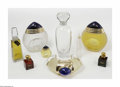 Art Glass:Other , A Group Of Factices And Perfume Bottles A group of five facticesrepresented by Estee Lauder, including Boucheron, ... (9 Items)