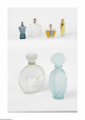 Art Glass:Other , A Grouping Of Factices And Perfume Bottles Various houses Agrouping of two factices including an aquamarine Vicky Ti... (6Items)