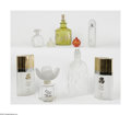Art Glass:Other , A Grouping Of Perfume Factices Various houses A nine-piece groupingof factices, including a Rochas with a frosted r... (9 Items)