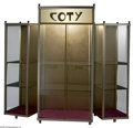 Art Glass:Other , Glass Display Case Coty The glass fold up Coty perfume display casewith glass shelves, sides open to offer a greate...