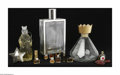 Art Glass:Other , A Grouping Of Perfume Bottles And Others Various houses A group ofclear glass perfume bottles including seven miniature... (13 Items)